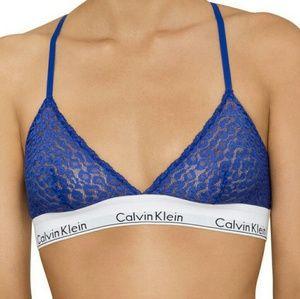 Calvin Klein Modern  Blue Lace Triangle Bra